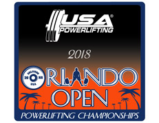 3rd Annual USA Powerlifting Orlando Open Championship (FL-2018-02)