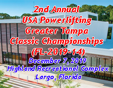 2nd Annual USA Powerlifting Greater Tampa Classic Championships(FL-2019-14)