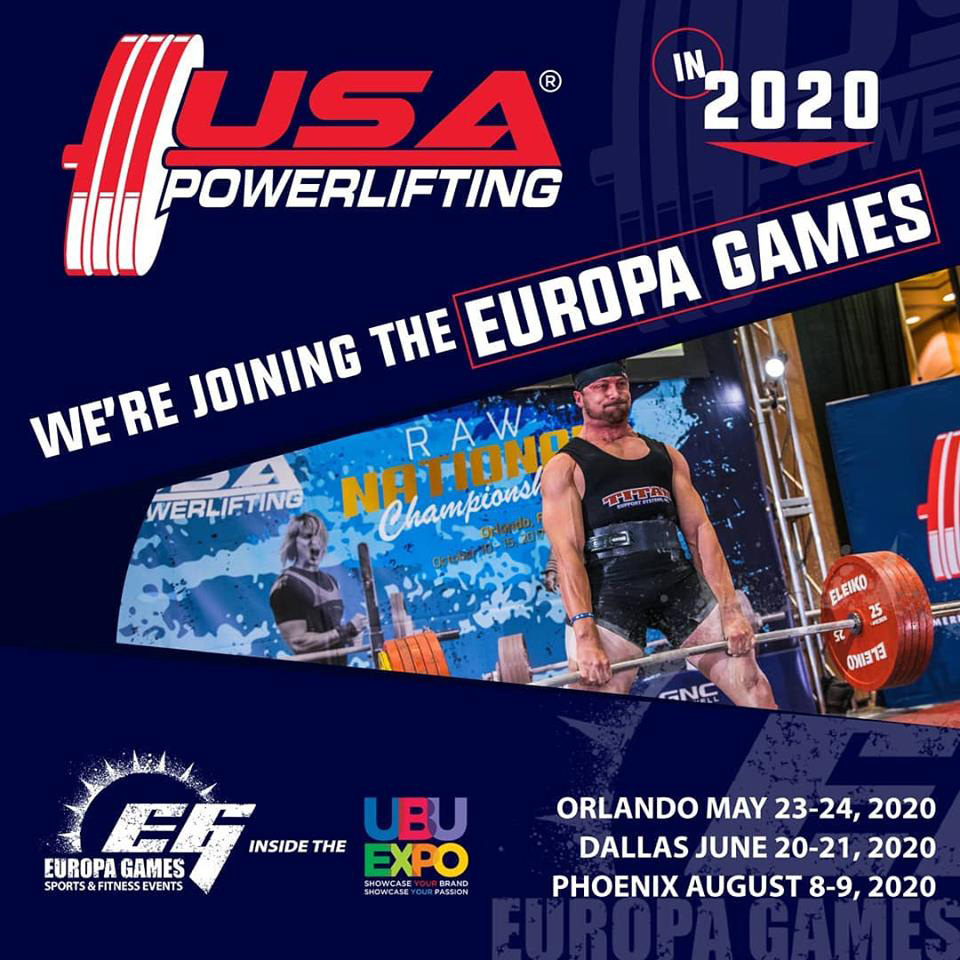 2020 USA Powerlifting Europa Games Expo Powerlifting Championships