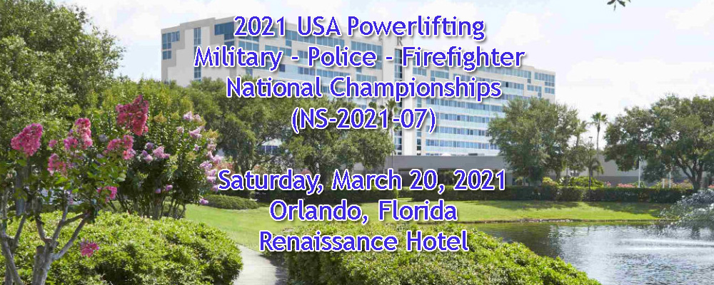 2021 USA Powerlifting Military - Police - Firefighter National Championships(NS-2021-07)